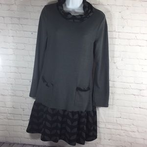 Reborn Mini Dress Black & Gray Size L
